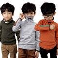 Outono e inverno criança, Meninos t-shirt, Meninos camisa de manga comprida gola. Barba, Menino t-shirt