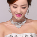 Factor Wholesale Jewelry Tl2006 Wholesale Bridal Dress Accessories Jewelry Fashion Pendant Crystal Necklace Set