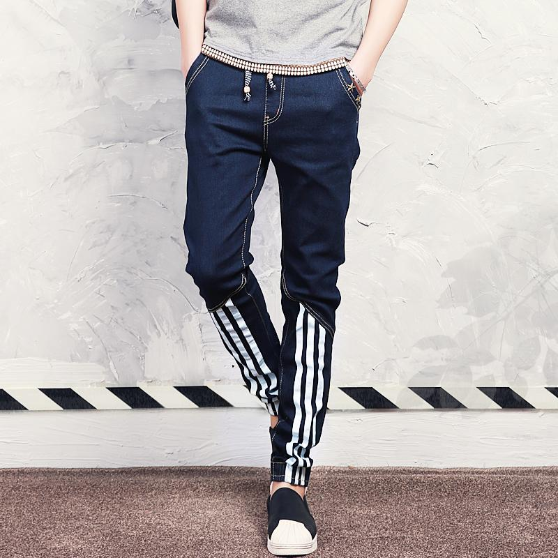 Jeans 2016 casual jeans men denim harem pants patch long joggers men street trousers