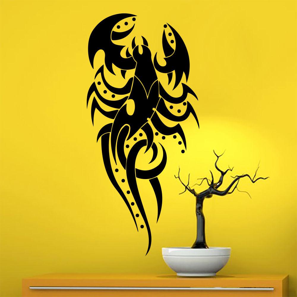 Wall Decal Scorpion Arachnids Tribal Tattoo Decals Home Art Decor ...