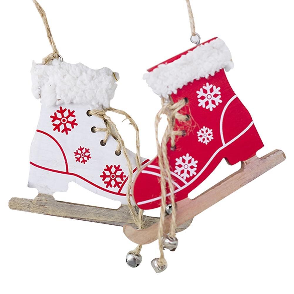 Christmas Painted Decorative Pendant Christmas Tree Innovative Skates Ski Shoes Pendant Christmas Home Door And Tree Decorations Diamond