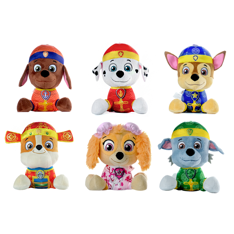 6pcs/set Paw Patrol dog puppy patrol plush stuffed Doll Chinese Style Dog kids Figure juguetes patrulla canina toy