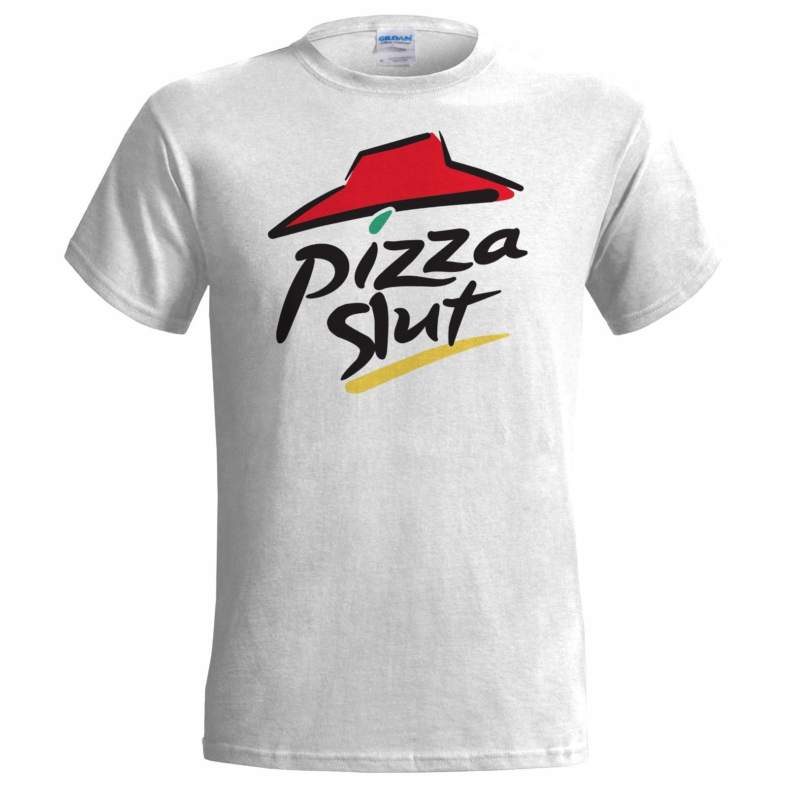 Buy PIZZA SLUT MENS FUNNY SPOOF T SHIRT PRESENT GIFT