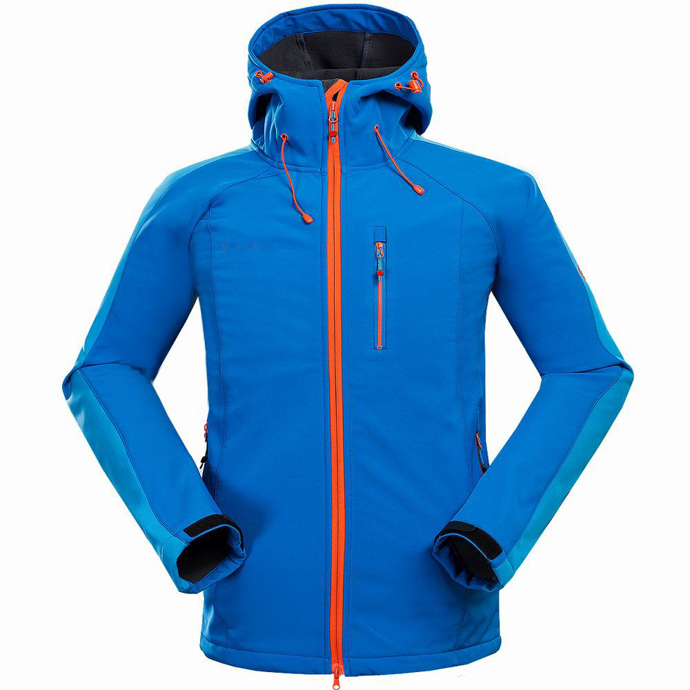 ФОТО New style outdoor mountaineering camping leisure sports charge clothing composite velvet jacket soft shell jacket