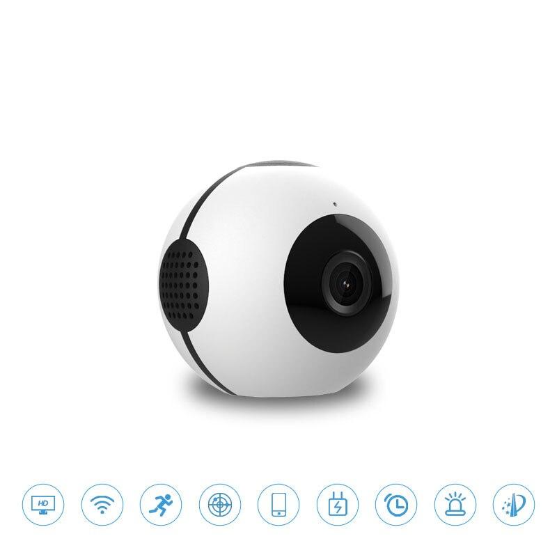 Новая широкоугольная HD камера Веб камера Встроенный аккумулятор wifi Поддержка TF карта ночного видения в режиме реального времени просмотр п
