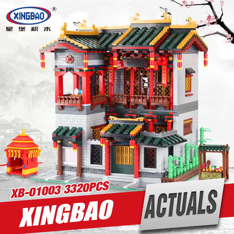 XingBao 01003 MOC 3320Pcs Series The Chinese Traditional Architecture Set Children Educational Building Blocks Bricks funny Toy mini architecture series 4 cubicfun 3d educational puzzle paper