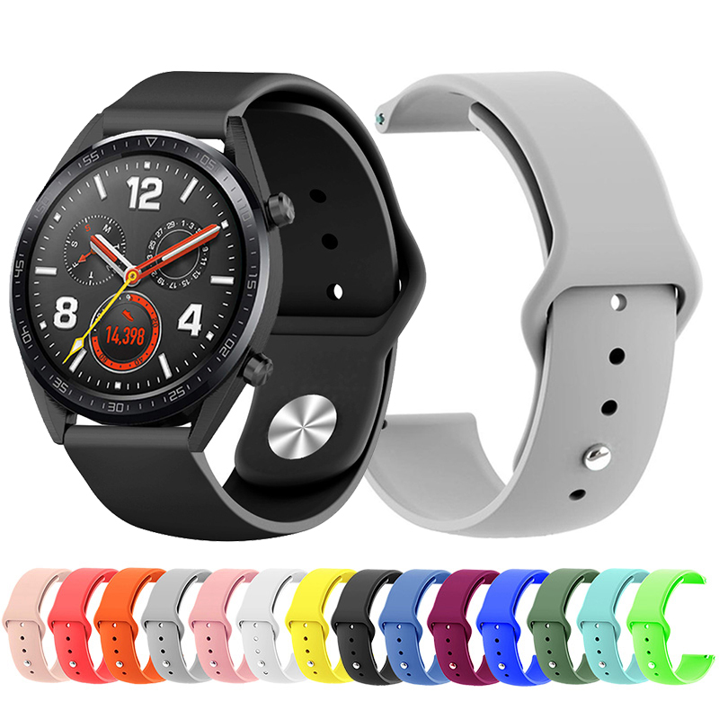 Replacement Sport Silicone 22mm Watch Bands For Huawei Watch GT Honor Magic Black Man Sport Bracelet Belt For Huawei GT Active