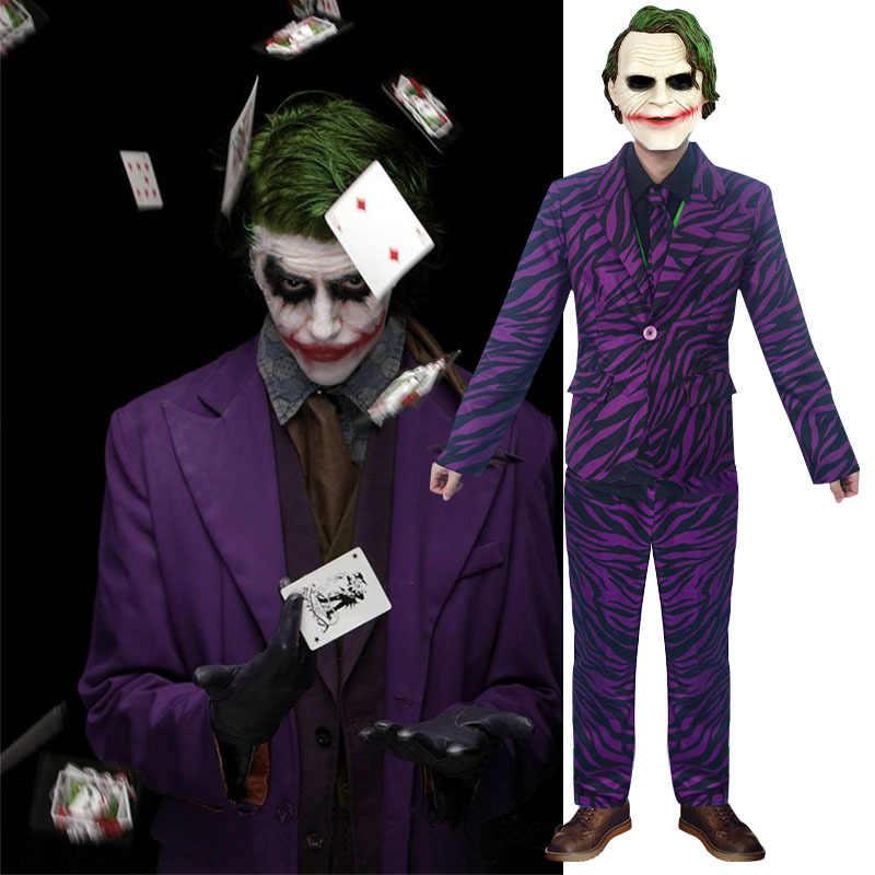 Wanneer Is T Halloween.Halloween Horror Costume Evil Clown Joker Cosplay Halloween Horror Cos Suit Batman Clown Joker Suit For Men Cosplay