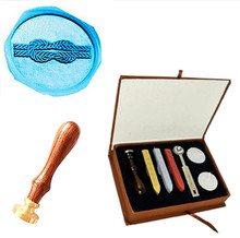 Tie the Knot Custom Picture Logo Wedding Wax Seal Stamp Sticks Box Set Kit Vintage