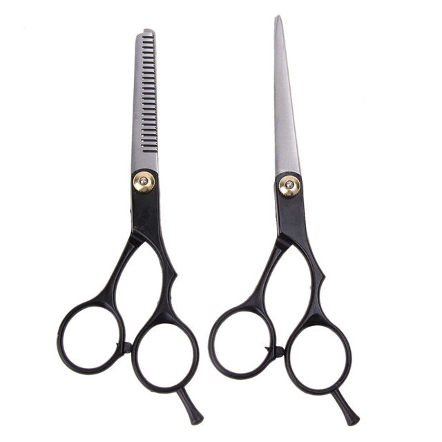 2 יחידות שיער חיתוך שיער דליל מספריים בארבר שיער חיתוך מספריים דליל שירס מספריים נירוסטה להגדיר סלון מקצועי