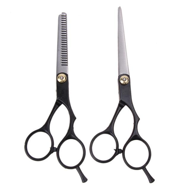 2pcs  Hair Cutting Thinning Scissors Shears Hair Cutting Thinning Shears Stainless steel Scissors Set  Salon Professional