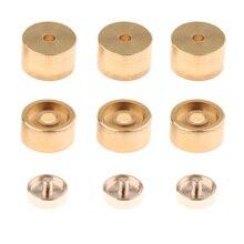 1 Set Trumpet Valve Finger Buttons Brass Instruments for Button Replacement Golden