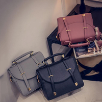 Europe And America Tide Women Handbag Fashion Trend Shoulder Diagonal Portable Bag Embossed Clamshell PU Leather