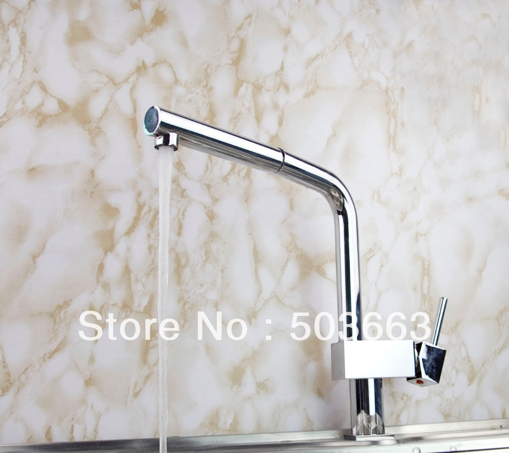 Wholesale Kitchen Pull Out Swivel Basin Sink Faucet Mixer Tap Vanity Faucet Chrome Crane S-145 Mixer Tap Faucet good quality wholesale and retail chrome finished pull out spring kitchen faucet swivel spout vessel sink mixer tap lk 9907
