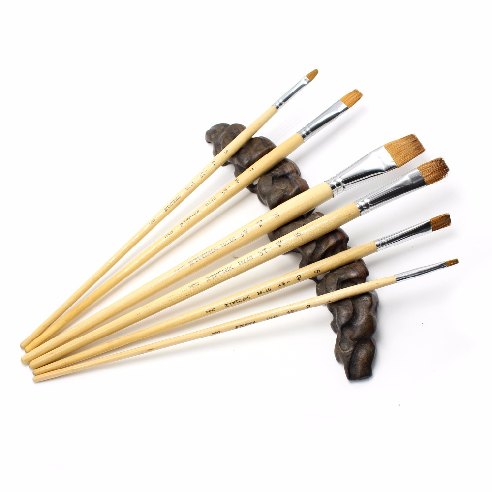 Eval Free Shipping Acrylic Paint Brush Weasel Hair Paint Brush for Watercolor Acrylic and Gouache Art Supplies