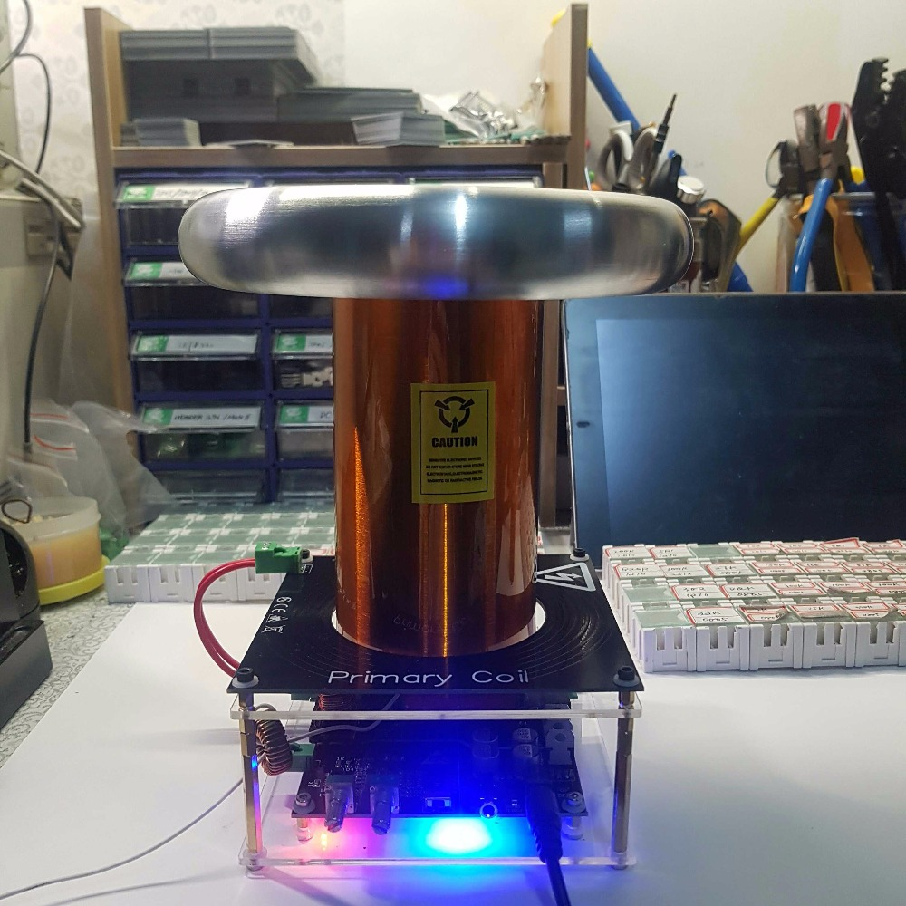 Tesla Coil Finished Tesla Coil SSTC Giving Rectifier Filter цена и фото
