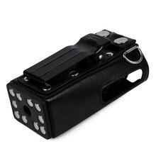 Двухстороннее радио кожаный защитный чехол сумка жесткий чехол для Motorola GP328 GP340 GP380 GP3188 EP450 иди и болтай Walkie Talkie