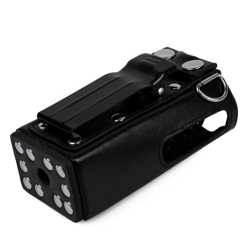 Two Way Radio Leather Protective Sleeve Shoulder Bag Hard Holster Case For Motorola GP328 GP340 GP380 GP3188 EP450 Walkie Talkie