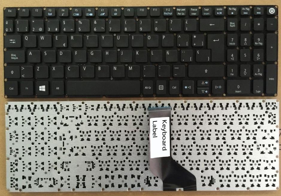 New Laptop keyboard for Acer aspire V15 V5-591 V5-591G SP  layout spanish keyboard for acer aspire 5745 5749 5800 5820 7235 7250 7251 7331 7336 7339 7535 sn7105a nsk alc0r sp laptop keyboard