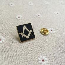 hot sale freemasonry square and compass brooches pins masonic free masons lapel pin metal badge craft souvenir lodge
