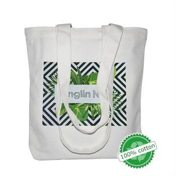 100PCS/Lot High-Quality Reusable Organic Cotton Shopping Bag Canvas Tote Bag Print Logo 100pcs lot size 90x92cm 36x36 8 home textiles shopping cloth cotton drawstring bag wholesale