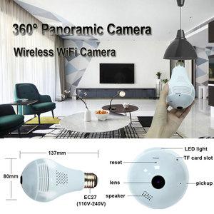 Image 2 - INQMEGA 360 Degree LED Light 960P Wireless Panoramic Home Security Security WiFi CCTV Fisheye Bulb Lamp IP Camera Two Ways Audio