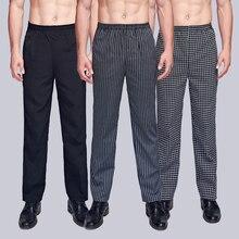 New Arrival Chef Uniform Restaurant Pants Kitchen Trouser Chef Pants Elastic Waist Bottoms Food Service Pants Mens Work Wear