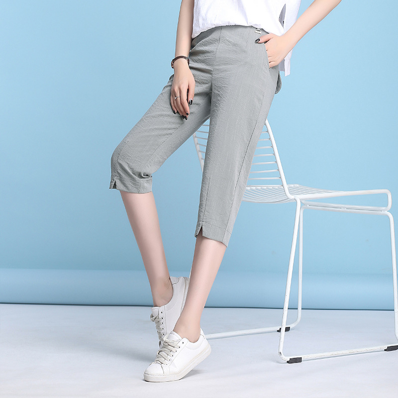 Capri Pants Women 2019 Summer Drawstring Casual Harem Trousers Plus Size <font><b>4xl</b></font> Ladies Thin Pants Sweatpants Women <font><b>Pantalon</b></font> <font><b>Mujer</b></font> image