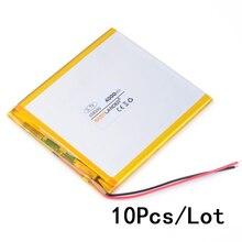 10pcs Lot 3 7V 4000mAh Polymer Li ion Battery For E Book Power Bank PDA Portable