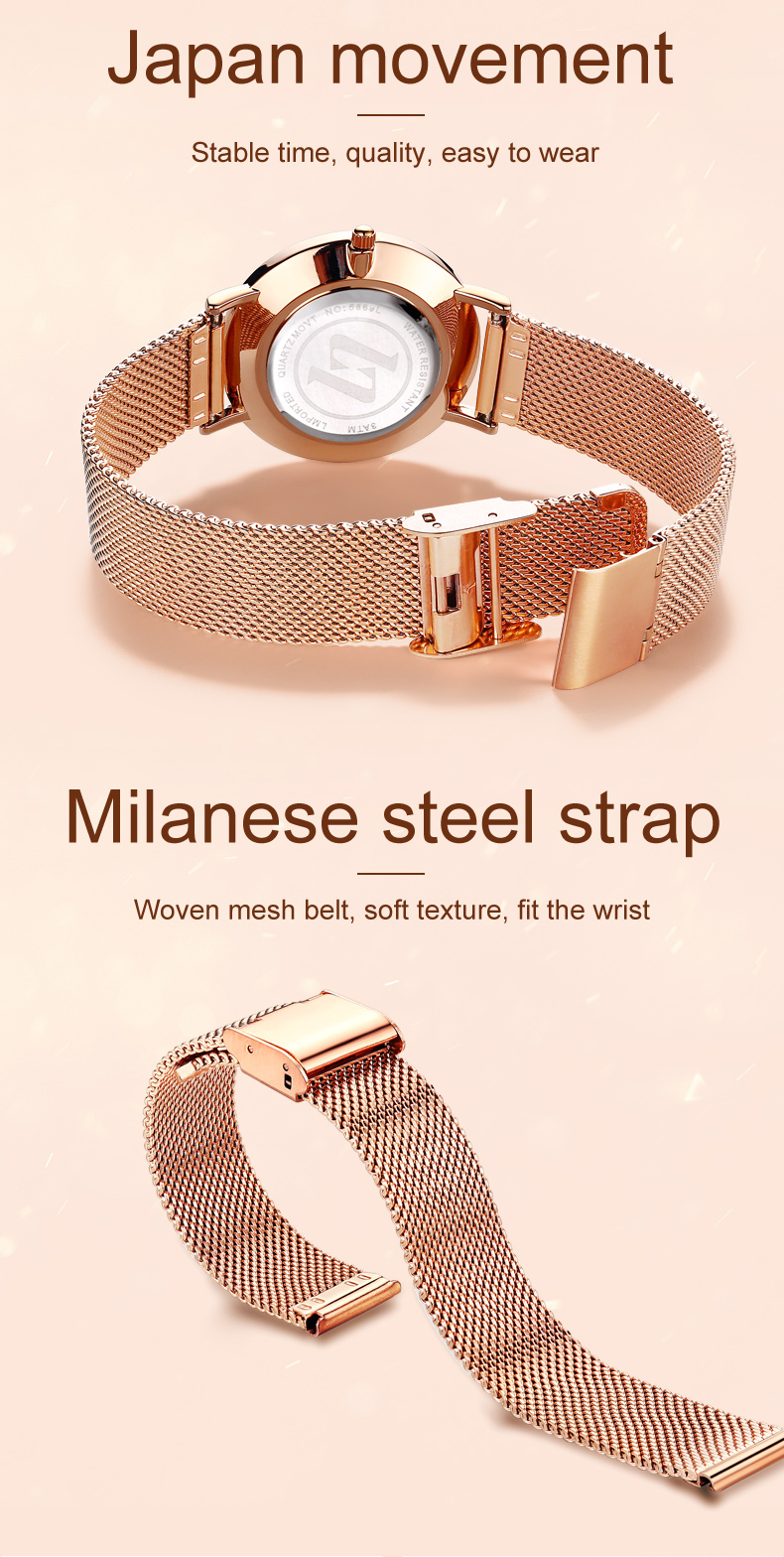 Montre-Bracelet Dames De Mode 2