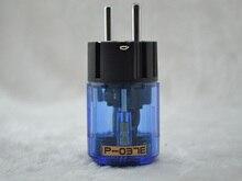 2ピースロジウムメッキp037e 037eロジウムメッキユーロ電源プラグschuko hifi男性プラグconenctor