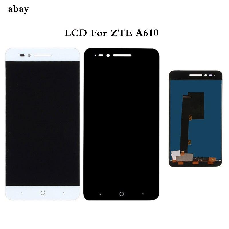 Pour ZTE lame A610 LCD écran tactile numériseur assemblée pour ZTE Voyage 4 lame A610C BA610 écran LCD