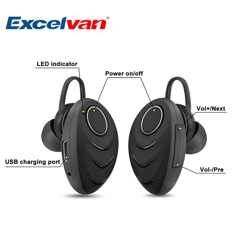 Excelvan A3 Wireless Bluetooth 4 0 Single Earphone Hifi Music Stereo Headset Portable In Ear With Mic For Work Driving Sports Stereo Headset Wireless Bluetooth 4 0earphone Hifi Aliexpress