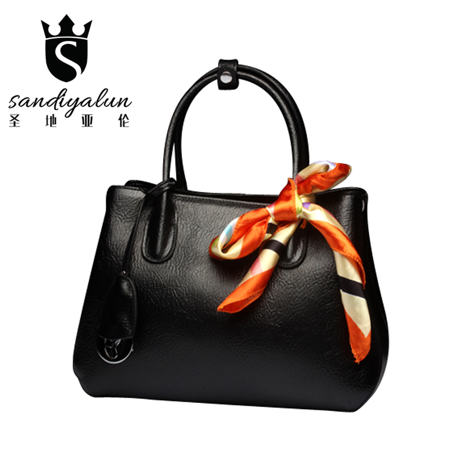 Famous Brands Women Handbags Genuine Leather Shoulder Bags Luxury Ladies Messenger Bag Female Tote Bags Handbag Bolsa luxury famous brand women female ladies casual bags leather hello kitty handbags shoulder tote bag bolsas femininas couro