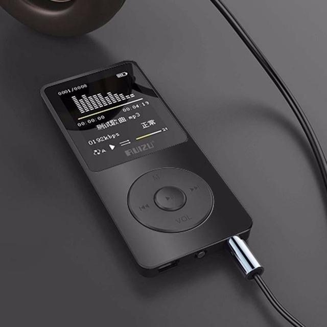"""1.8 """"TFT Pantalla Negro RuiZu X02 HiFi 4G Reproductor de Música Del Deporte Mp3 Player FM Grabador"""