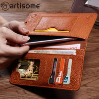 Universal PU Leather Wallet Phone Bag Case For IPhone 7 6 6S Plus 5S 5 5C