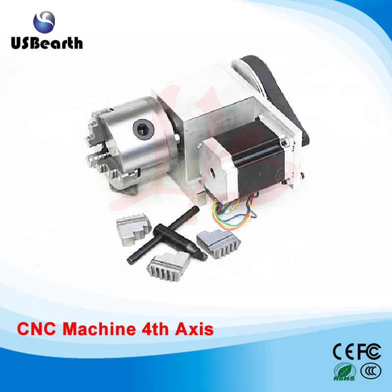 3 Jaw 80mm chuck CNC 4th Axis mini cnc router Rotary axis cnc parts cnc 5 axis a aixs rotary axis three jaw chuck type for cnc router