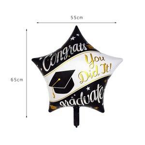 Image 5 - 5pcs Graduation Balloons Graduation Gift Cartoon Globos Back To School Decorations Congratulation Graduation 2019 Doctor Balloon