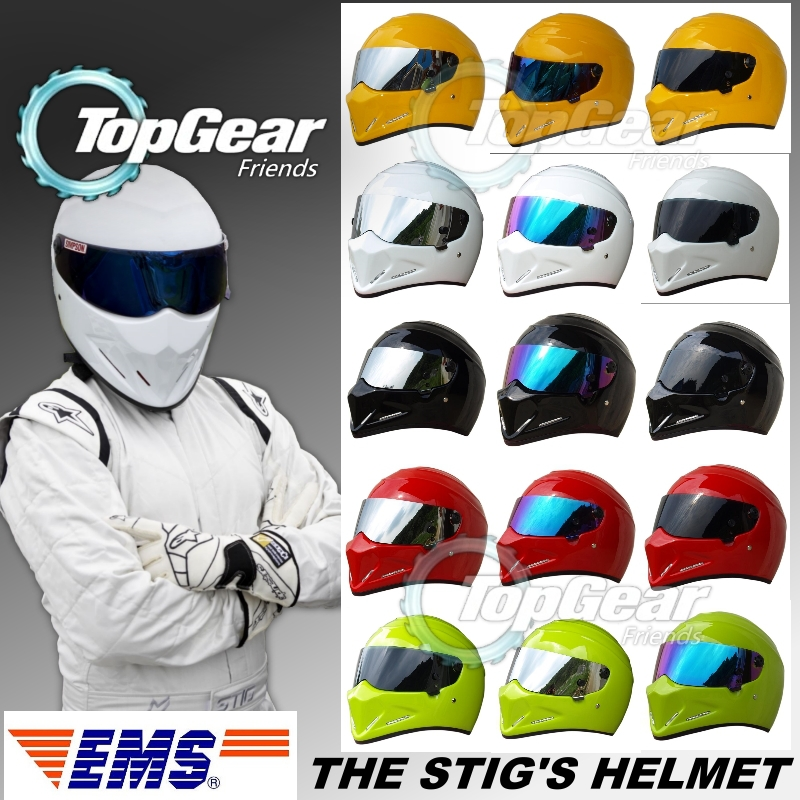 TopGear The STIG Helmet Capacete Casco De EMS Shipping Fast to You/ Like as SIMPSON Many Color & Visor Glass Lens to Choose for top gear the stig helmet with silver visor tg collectable like simpson pig yellow motorcycle helmet you re the stig