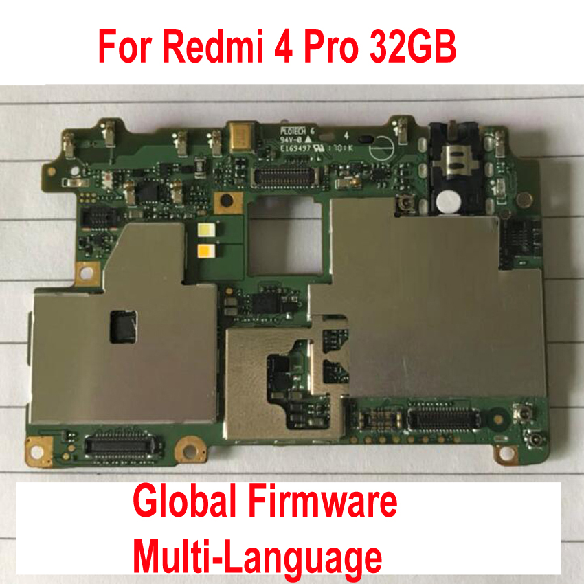 Original Unlock Mainboard For Xiaomi Redmi 4 Pro Redmi4 Motherboard Card Fee Circuit Flex Cable Accessory Sets Global Firmware