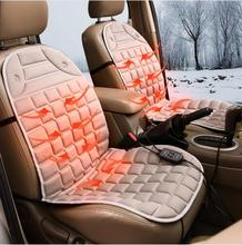Автомобильная подушка с подогревом, Всесезонная, обычная льняная, зимняя, 12 В, Автомобильная подушка для сиденья с электрическим подогревом, автомобильные чехлы с электроподогревом