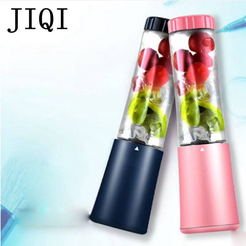 JIQI Portable Electric slow Juicer Smoothie machine mini fruit juice Maker Multifunction Pocket Sports Bottle Blender EU US plug baby photo props hot animals infant rabbit cotton crochet costume baby shower birthday party photography prop