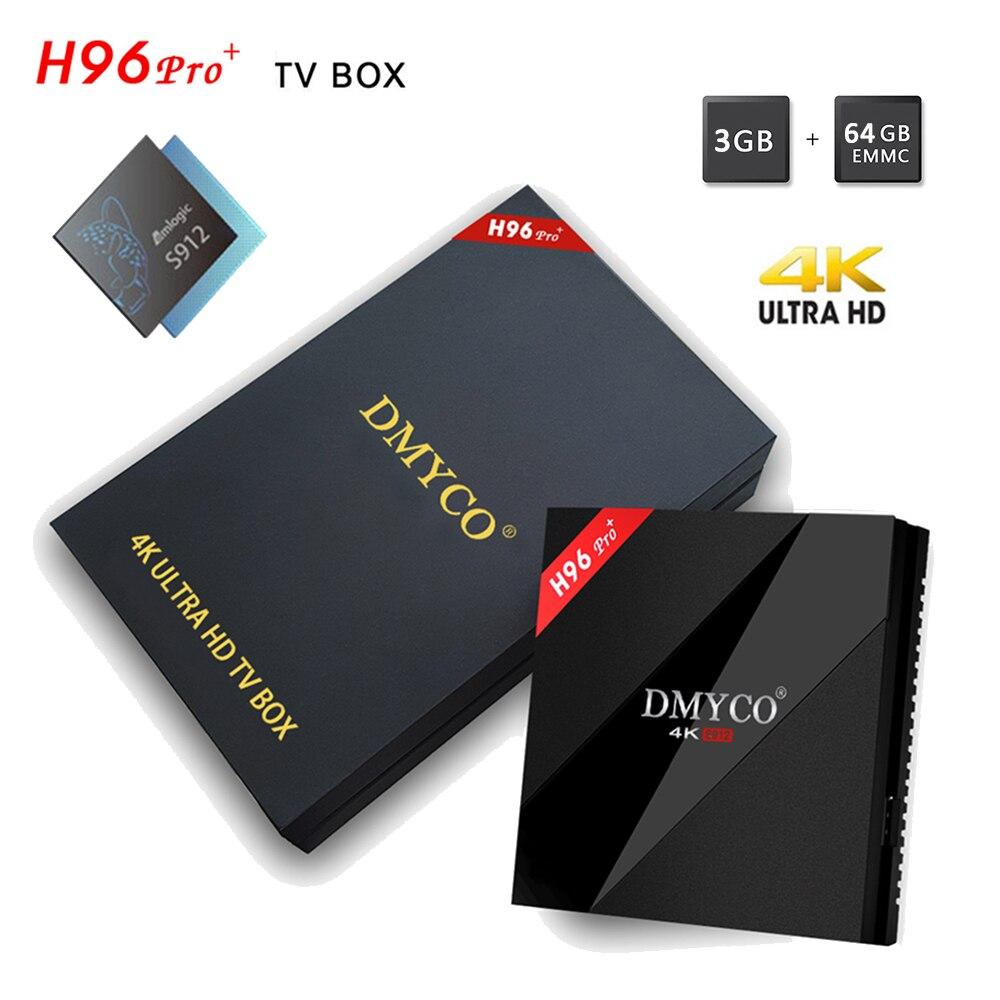 2018 Global Version 3G 64GB H96 Pro Plus Android TV Box 4K Amlogic S912 64 bits Youtube Google Box ARM Mali-T820MP3 2.4/5G WIFI рюкзак для ноутбука 15 6 thule lithos backpack tlbp 116 синий