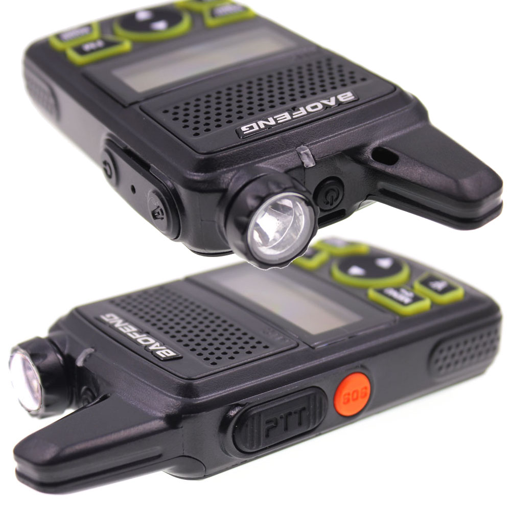 Image 3 - 2 pcs baofeng BF T1 mini portátil rádio em dois sentidos bft1 uhf  400 470 mhz 20ch ham fm transceptor walkie talkie com fone de  ouvidoWalkie-talkie