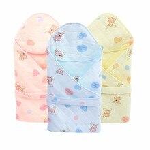 все цены на Baby Cotton Blanket Infant Bebe Sleeping Bag Swaddle Envelope  Newborn Baby Blankets Wrap Sleepsack Cartoon Baby Bedding Blanket