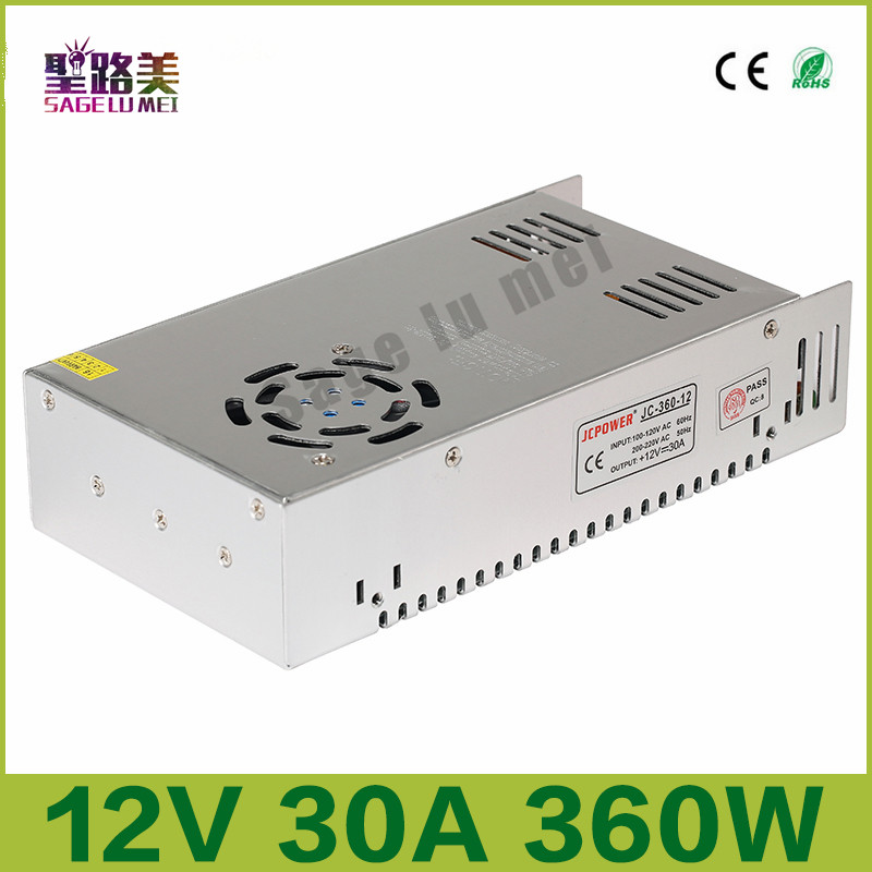 цена на AC110V-22V to DC 12V 30A 360W Indoor Regulated Switching Power Supply electronic lighting transformer For LED Light Strip bulb