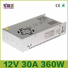 InputAC110V-22V outputDC 12V 30A 360W Regulated Switching Power Supply electronic lighting transformer For LED Light Strip bulb