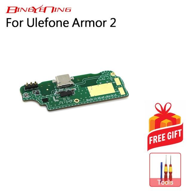 BingYeNing Neue Original Für Ulefone Rüstung 2/Rüstung 2s usb stecker lade board Flex Kabel lade modul zelle telefon Mini USB Port