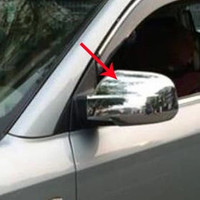 ABS Chrome Rearview mirror cover Trim/Rearview mirror Decoration For 2006 2007 2008 Hyundai Tucson Car styling