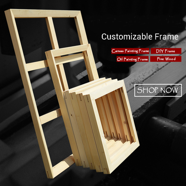 custom size diy frame for oil painting and canvas print gallery